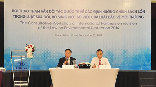 Tham vấn đối tác quốc tế về các định hướng chính sách lớn trong Luật sửa đổi, bổ sung một số điều của Luật Bảo vệ môi trường