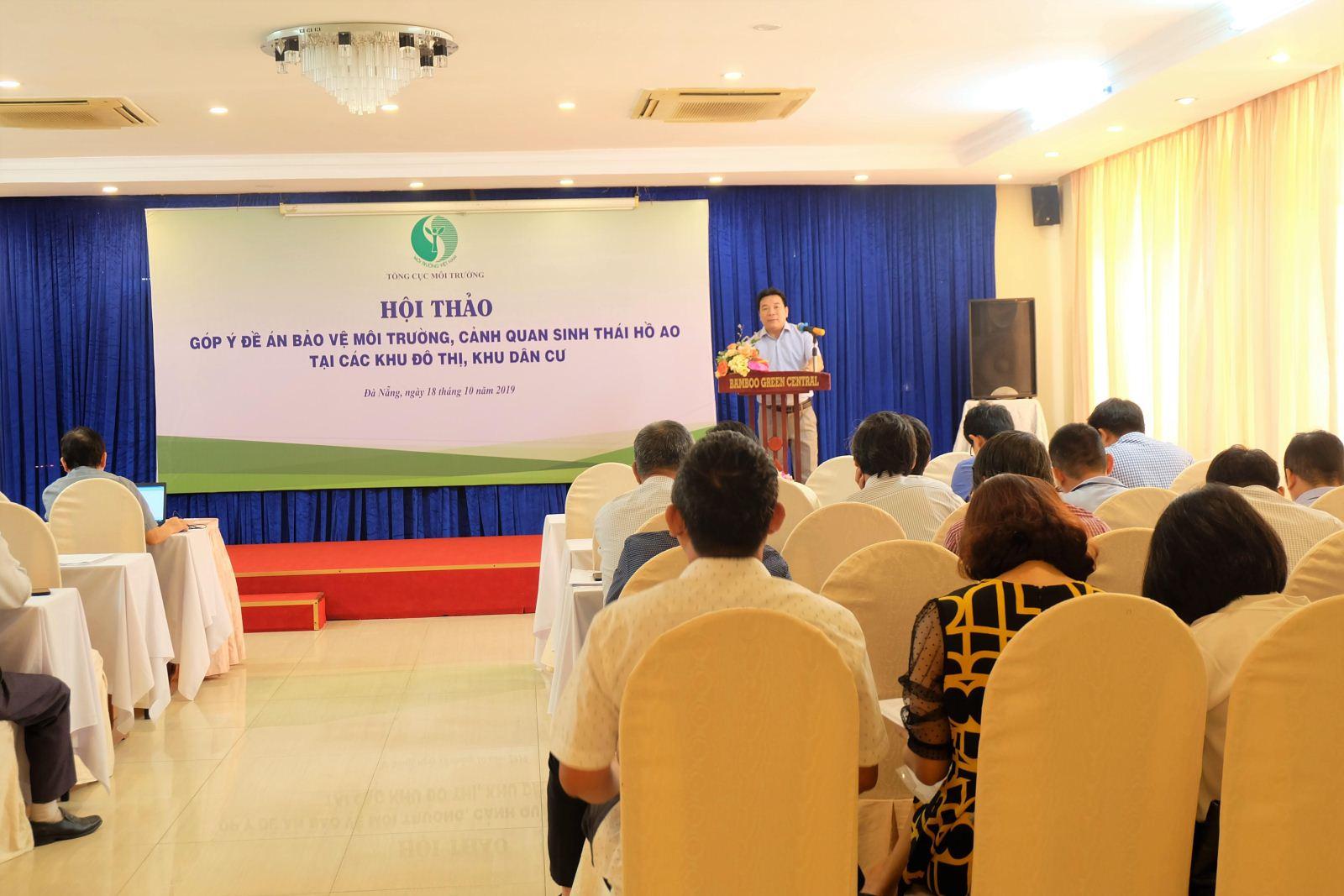 """Hội thảo góp ý xây dựng """"Đề án Bảo vệ môi trường, cảnh quan sinh thái hồ, ao tại các khu đô thị, khu dân cư"""" tại 3 miền Bắc, Trung, Nam"""