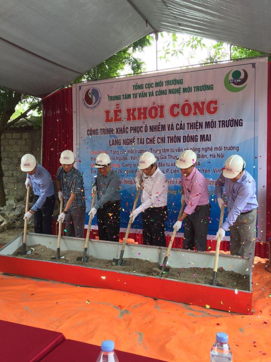 Lễ Khởi công công trình khắc phục ô nhiễm và cải thiện môi trường tại làng nghề tái chế chì thôn Đông Mai