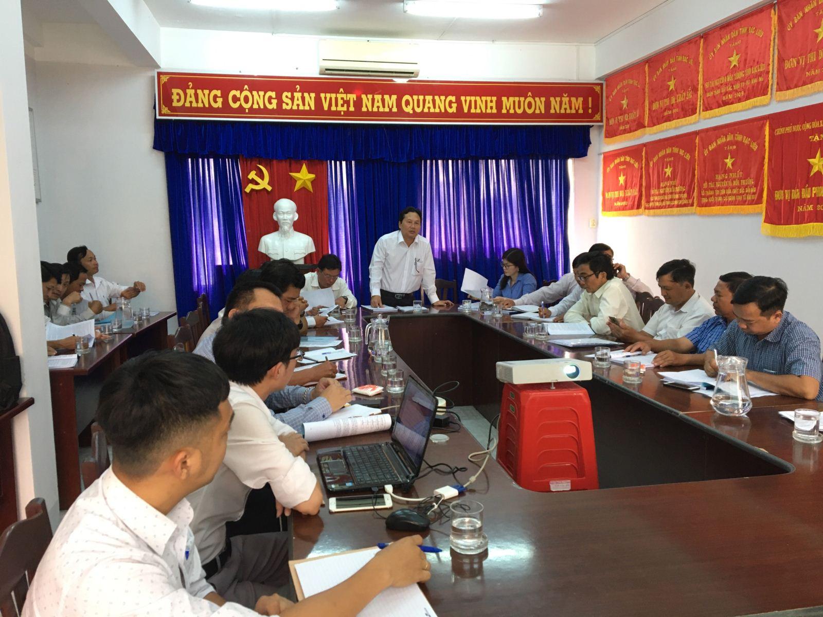 Phiên họp đóng góp ý kiến Báo cáo tổng hợp cho nhiệm vụ trên địa bàn tỉnh Bạc Liêu