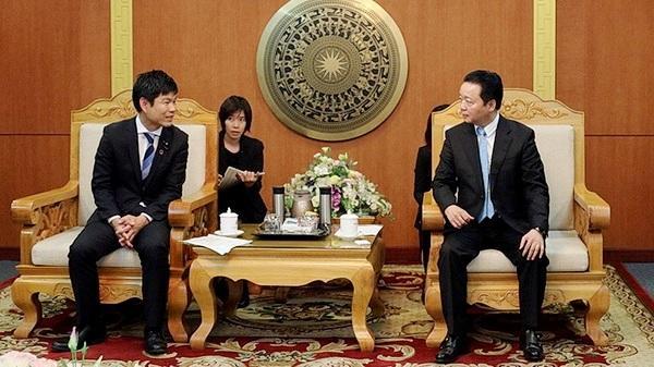 Bộ trưởng Trần Hồng Hà tiếp Thứ trưởng Bộ Môi trường Nhật Bản