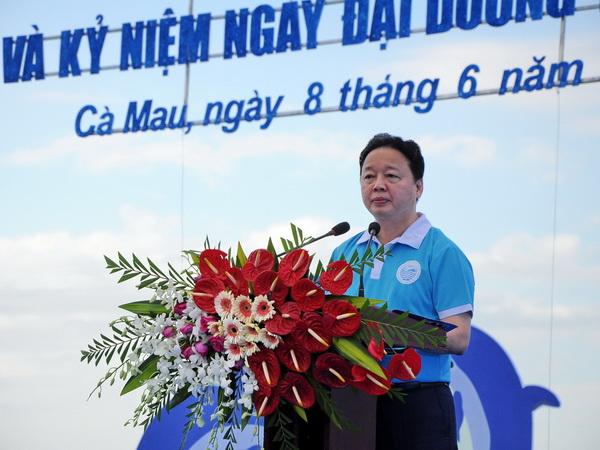 Bài phát biểu của Bộ trưởng Bộ TN&MT tại Lễ mít tinh hưởng ứng Tuần lễ Biển và Hải đảo Việt Nam và Ngày Đại dương thế giới năm 2017