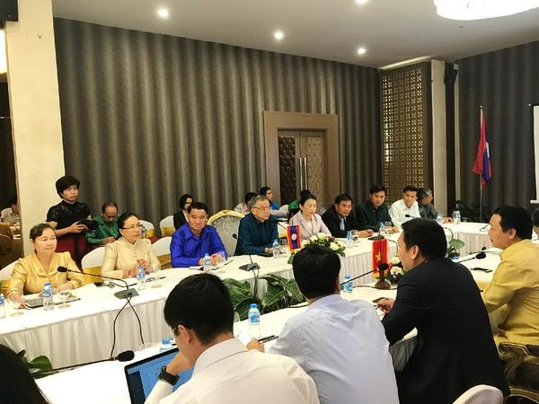 Thông tin báo chí về kết quả làm việc của Bộ trưởng Bộ Tài nguyên và Môi trường, Chủ tịch Ủy ban sông Mê Công Việt Nam và Lào
