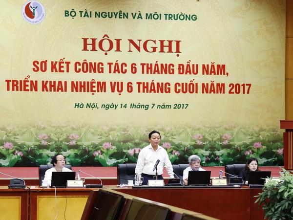 Bộ Tài nguyên và Môi trường triển khai nhiệm vụ 6 tháng cuối năm 2017