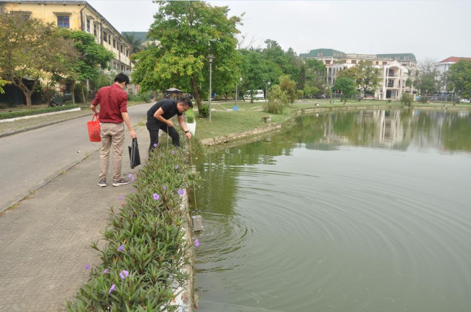 Trung tâm Tư vấn và Công nghệ Môi trường tiến hành khảo sát, đánh giá môi trường, cảnh quan sinh thái hồ, ao tại Huế - Đà Nẵng
